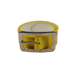 Orciani Yellow Leather Women's 34-inch Belt