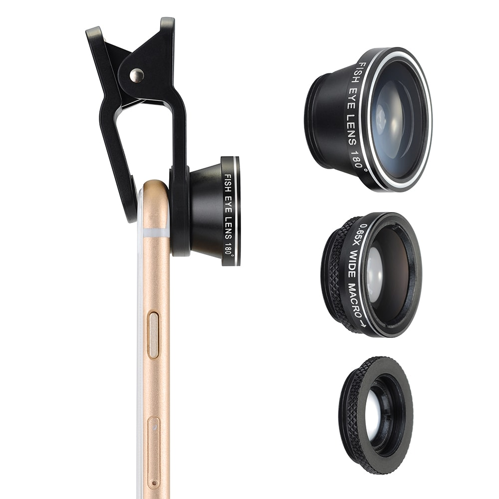 Coutlet 3-in-1 Clip-On 180-degree Fisheye, 0.65X Wide Ang...
