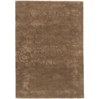 Ecarpetgallery Aviva Green Wool Rug (4'7 x 6'7)