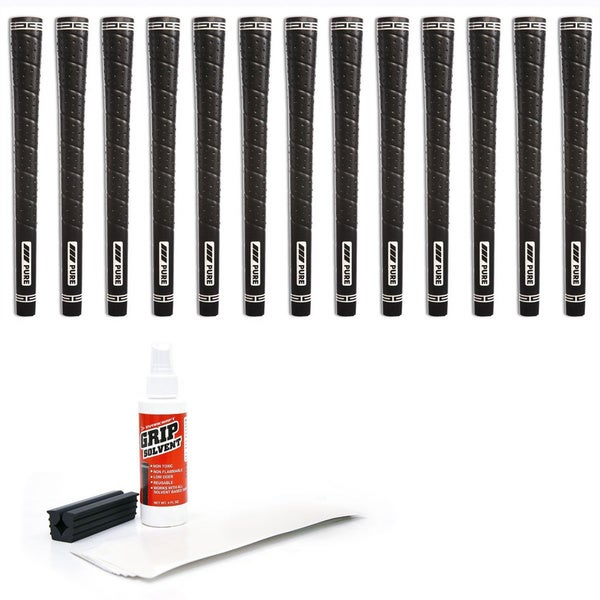 Pure Grips Jumbo Wrap - 13 pc Golf Grip Kit (with tape, solvent, vise clamp)