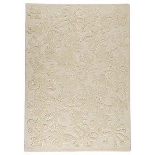 M.A.Trading Indian Hand-tufted Newport White Rug (5'6 x 7'10)