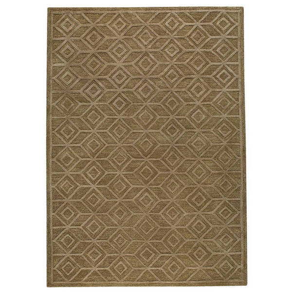 M.A.Trading Indian Hand-tufted Alhambra Brown Rug (8'x10')