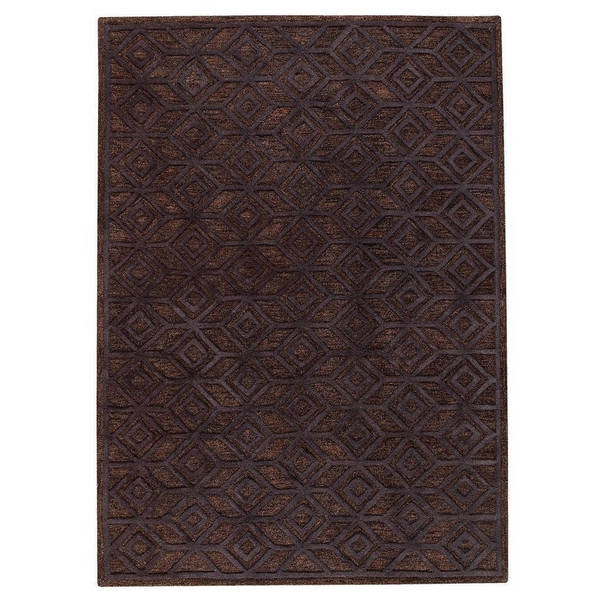 M.A.Trading Indian Hand-tufted Alhambra Black Rug (8'x10')