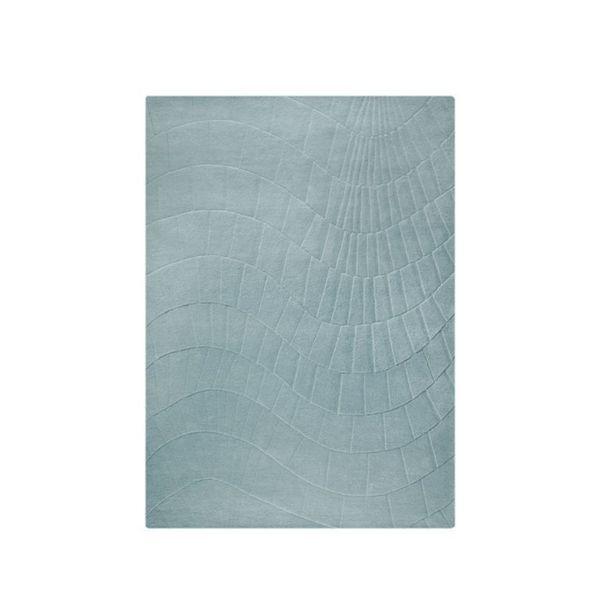 M.A.Trading Indian Hand-tufted Terraza Aqua Rug (8'3 x 11'6)