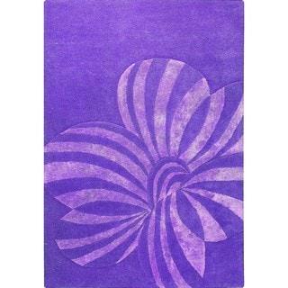 Indian Hand-tufted Jasmine Violet Rug (8'3 x 11'6)