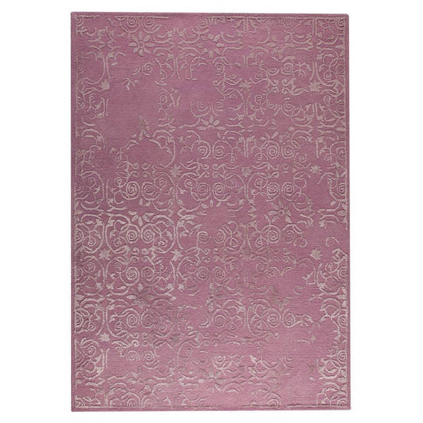 Indian Hand-tufted Illusion Pink Rug - 8'3 x 11'6