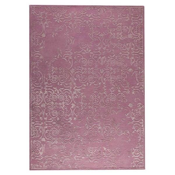 Handmade Indian Illusion Pink Rug (India)