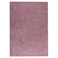 Indian Hand-tufted Illusion Pink Rug (8'3 x 11'6)