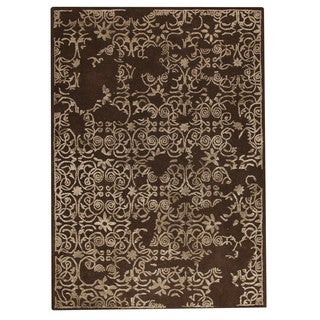M.A.Trading Indian Hand-tufted Illusion Brown Rug (8'3 x 11'6)