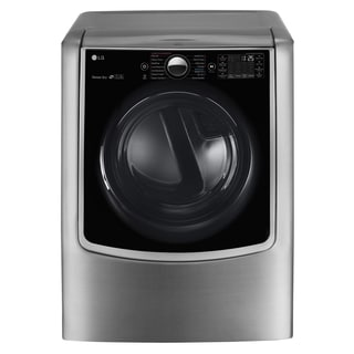 LG DLGX9001V 9.0 cu.ft. MEGA Capacity TurboSteam Gas Dryer with On-Door Control Panel in Graphite Steel