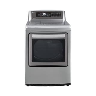 LG DLGX5781VE 7.3 cu.ft. Ultra Large SteamDryer with EasyLoad Door in Graphite Steel