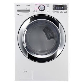 LG DLGX3371W 7.4-cubic Feet Ultra Large Capacity SteamDryer with NFC Tag On (Gas) in White