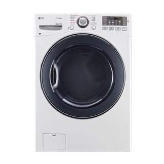 LG DLGX3571W 7.4-cubic Feet Ultra Large Capacity SteamDryer with NFC Tag On in White