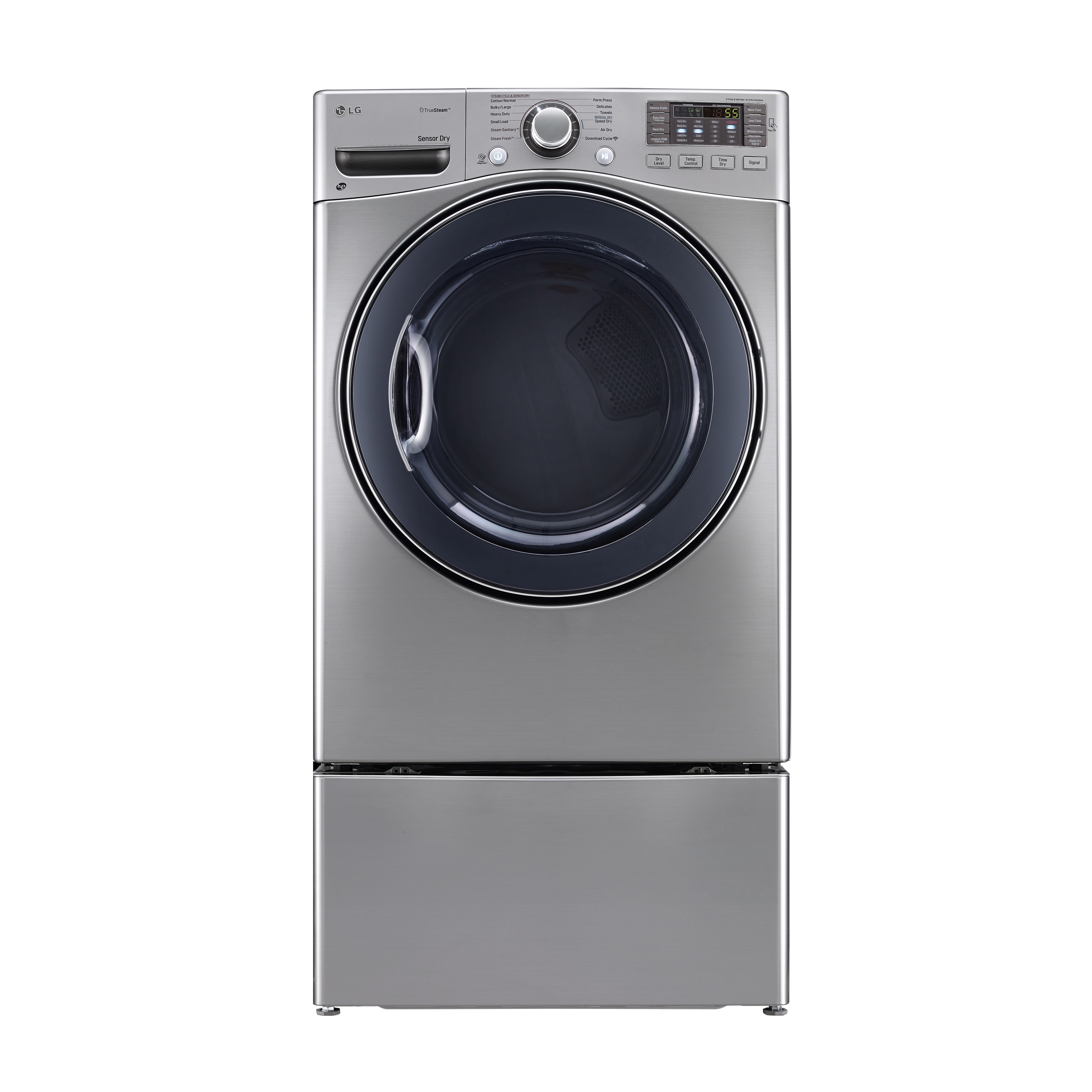 LG DLGX3571V 7 4-cubic Feet Ultra Large Capacity SteamDryer with NFC Tag On  in Graphite Steel