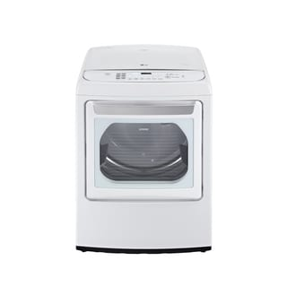 LG DLEY1701WE 7.3-cubic Feet Ultra Large Capacity High Efficiency Front Control SteamDryer with EasyLoad Door in White