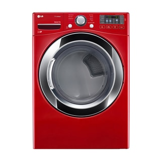 LG DLGX3371R 7.4-cubic Feet Ultra Large Capacity SteamDryer with NFC Tag On (Gas) in Red