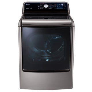 LG DLGX7701VE 9.0 cu.ft. MEGA Capacity TurboSteam Dryer with EasyLoad Door in Graphite Steel