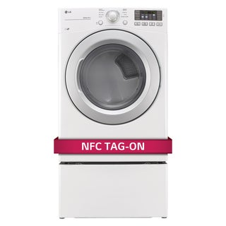 LG DLE3170W 7.4-cubic Feet Ultra Large Capacity Dryer with NFC Tag On Technology in White