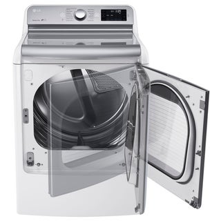 LG 9.0 Cu. Ft. Mega Large Capacity TurboSteam Dryer With EasyLoad Door in White, Model DLEX7700WE