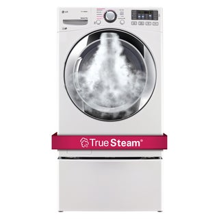 LG DLEX3370W 7.4-cubic Feet Ultra Large Capacity SteamDryer with NFC Tag On in White
