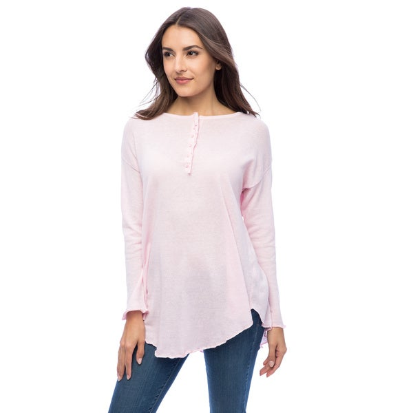 Dolores Piscotta Women's Cotton Henley Tunic