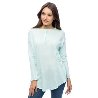 Dolores Piscotta Women's Cotton Henley Tunic