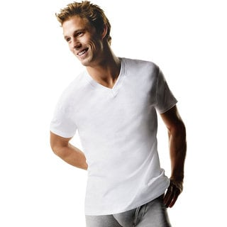Hanes Men's Tall Tagless ComfortSoft V-Neck Undershirt (Pack of 3)