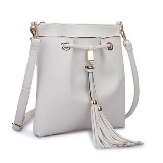 Dasein Crossbody Handbag With Fringe Details