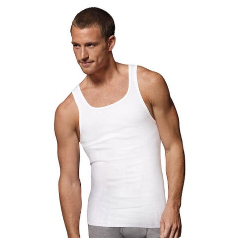 Hanes Men's Tall Tagless ComfortSoft Tank Undershirt (Pack of 3)