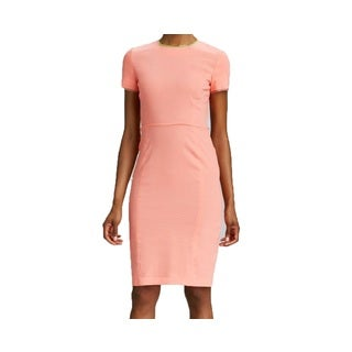 Elie Tahari Emily Women's Pink Linen Sheath