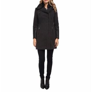 Andrew Marc Paula Grey Wool Coat (Large)