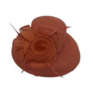 Swan Hat P.P Braid Metallic Church/ Dressy Hat