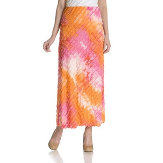 Sunny Leigh Women's Ombre Long Ruffle Skirt