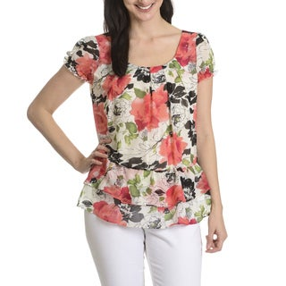 Sunny Leigh Women's Floral Print Layered Top