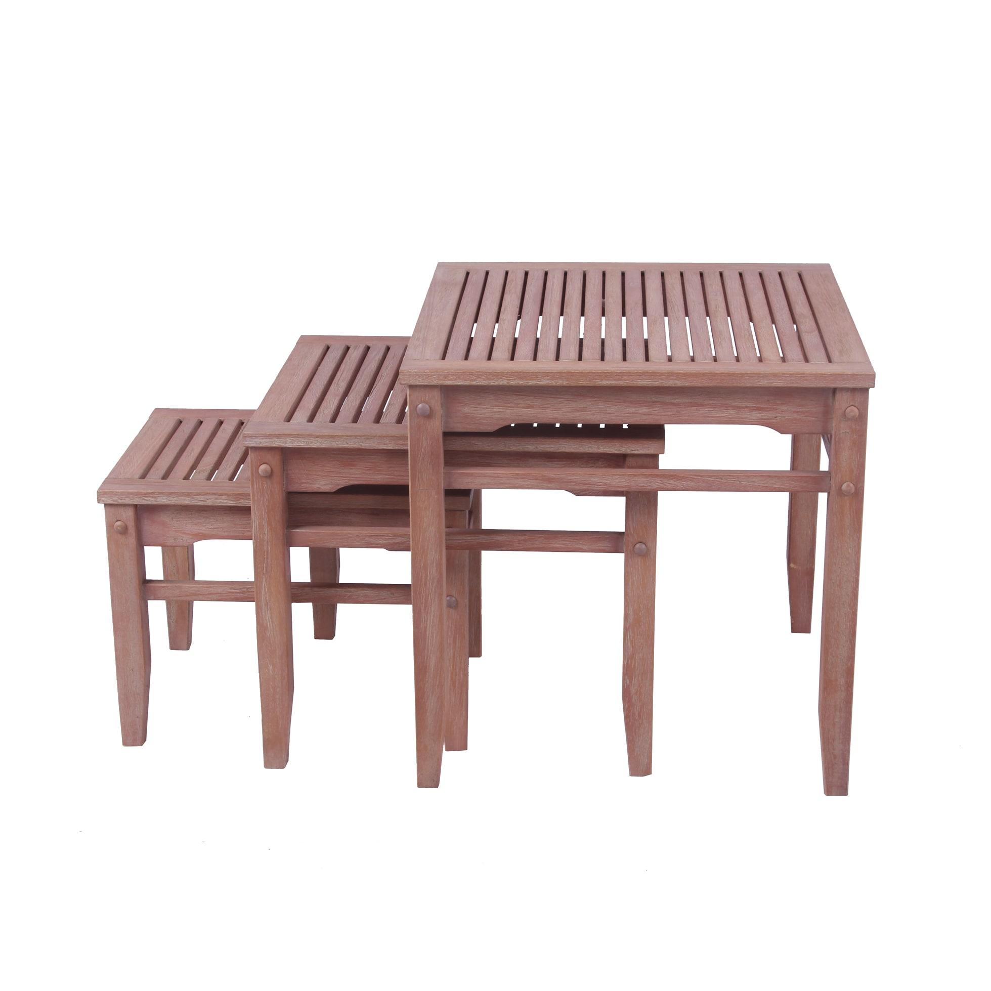 Cambridge Casual Astoria 3 pc Nesting Table (Weathered), ...