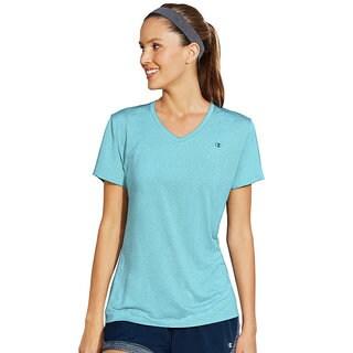 Champion Vapor Women's Stripe V-Neck T-Shirt