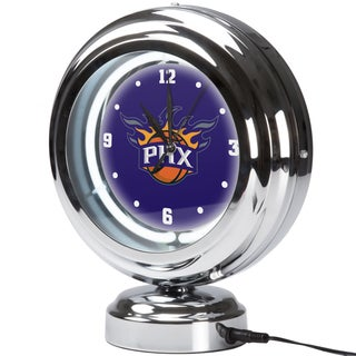 Phoenix Suns NBA Chrome Retro Style Tabletop Neon Clock