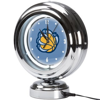 Memphis Grizzlies NBA Chrome Retro Style Tabletop Neon Clock