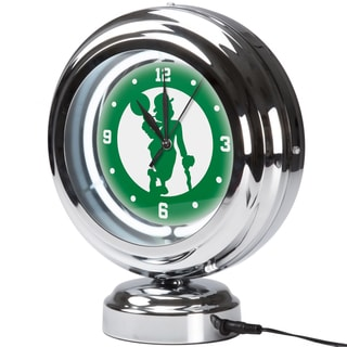 Boston Celtics NBA Chrome Retro Style Tabletop Neon Clock