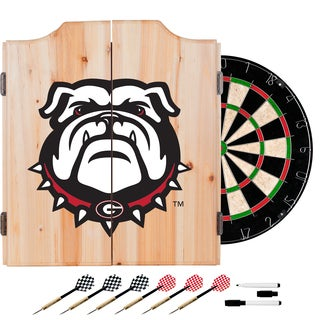 University of Georgia Dart Cabinet Set with Darts and Board