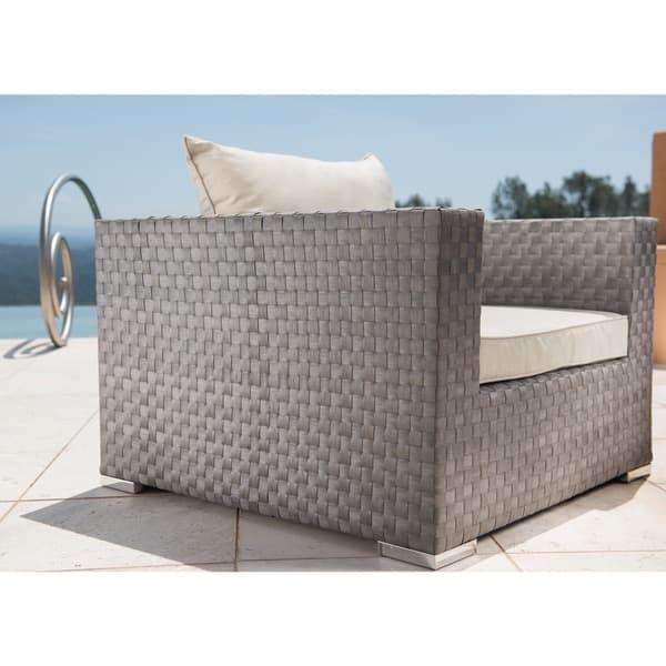 Magnificent Shop Corvus Diana Outdoor 4 Piece Grey Wicker Sofa Sectional Inzonedesignstudio Interior Chair Design Inzonedesignstudiocom