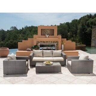 Corvus Diana 4-piece Grey Wicker Patio Furniture Set