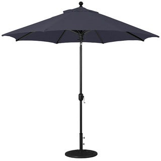 Galtech 9 ft. Deluxe Auto-Tilt Umbrella with Black Pole and Sunbrella Shade