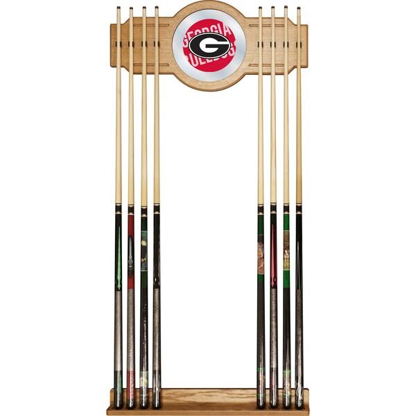 University of Georgia Cue Rack with Mirror - Wordmark