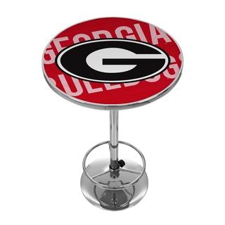 University Of Georgia Chrome Pub Table Wordmark