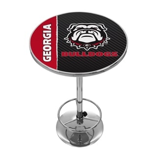 University of Georgia Chrome Pub Table - Text