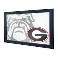 University of Georgia Framed Logo Mirror - Fade