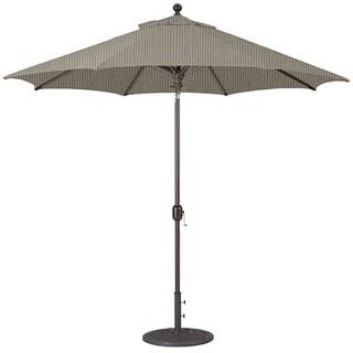 Galtech 9' Auto Tilt Umbrella with Antique Bronze Pole and Black Shade