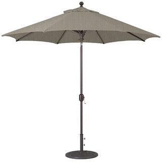 Galtech 9' Auto Tilt Umbrella with Antique Bronze Pole and Black Shade