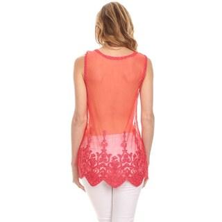 High Secret Women's Crochet Lace Top